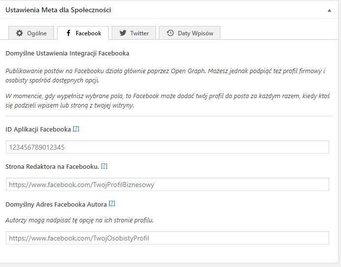 framework seo ustawienia socialmedia